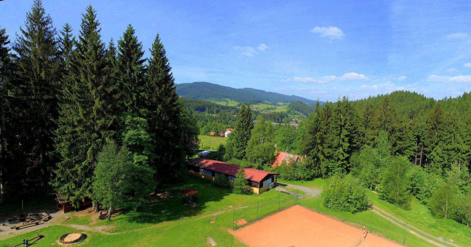 Výhled z hotelu Mesit na západ