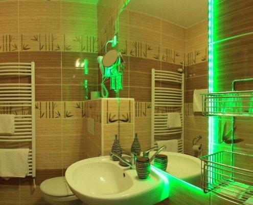 Bambusový pokoj koupelna