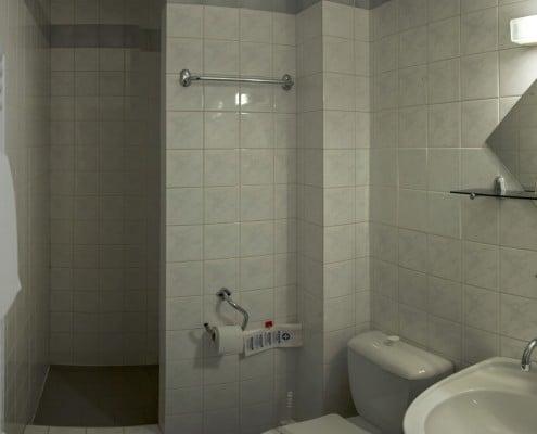 Koupelna v jednolůžkovém pokoji