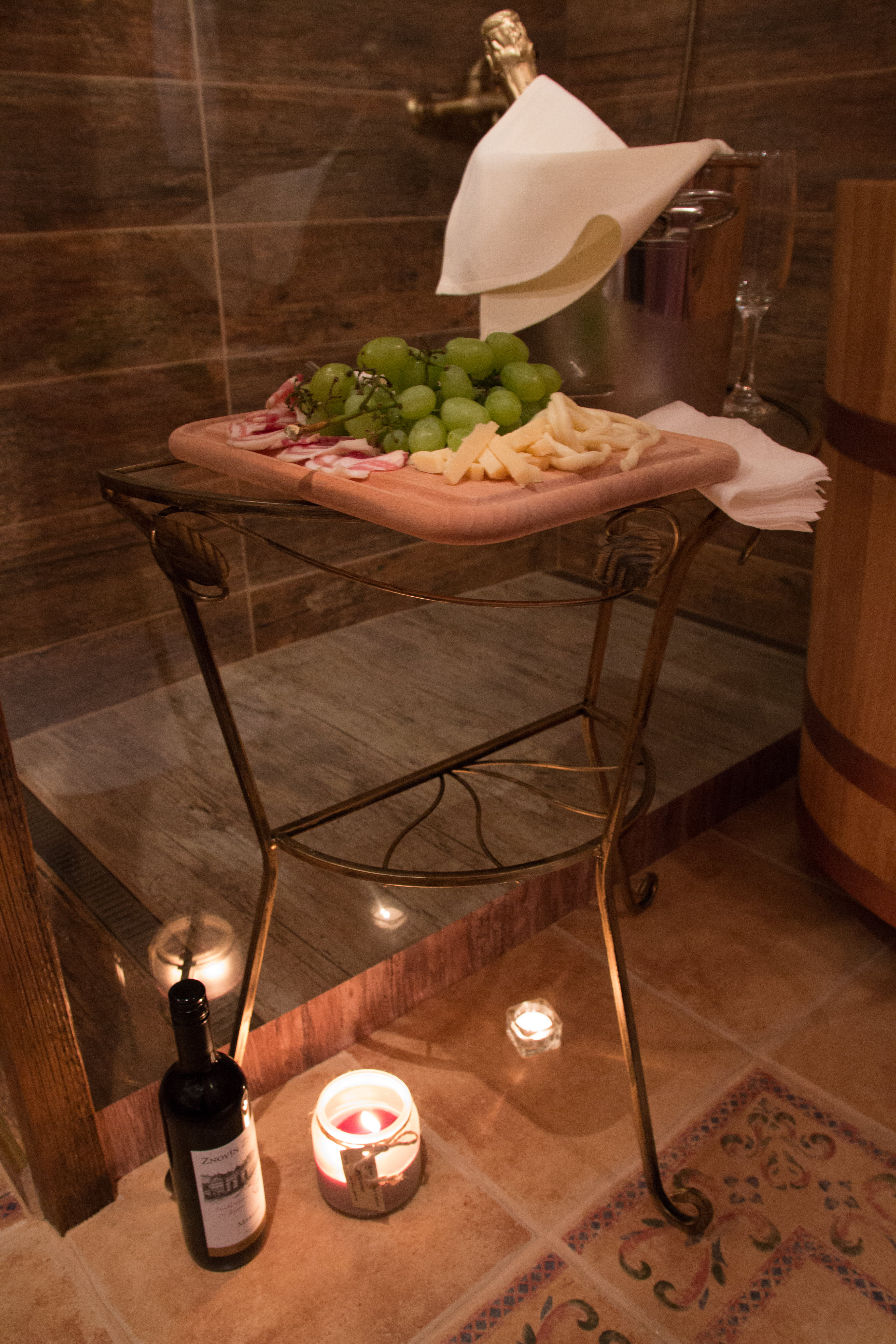 Vinný wellness pohoštění