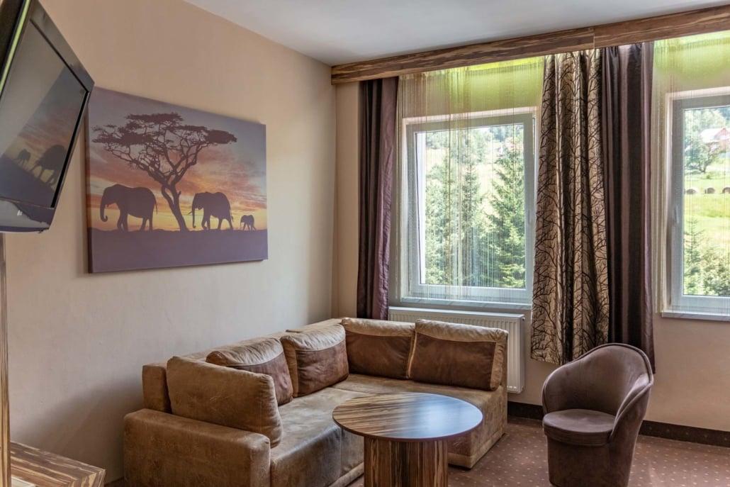 Pokoj Afrika hotel Mesit